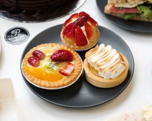 Fruit Flan, Strawberry Tart & Lemon Meringue